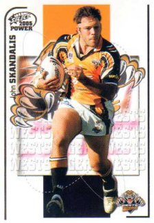 2005 NRL Power Base Card 180 John Skandalis Tigers