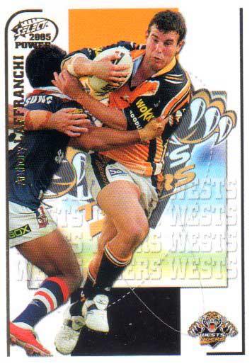 2005 NRL Power Base Card 176 Anthony Laffranchi Tigers