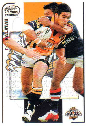 2005 NRL Power Base Card 173 Dene Halatau Tigers