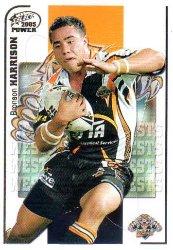 2005 NRL Power Base Card 174 Bronson Harrison Tigers