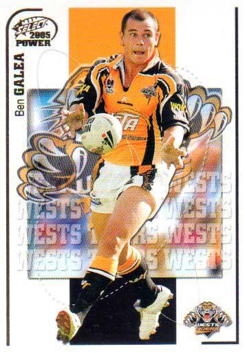2005 NRL Power Base Card 172 Ben Galea Tigers