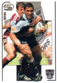 2005 NRL Power Base Card 169 Ruben Wiki Warriors