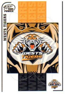 2005 NRL Power Base Card 170 Wests Tigers Header