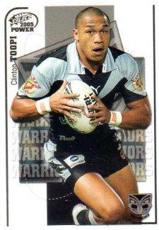 2005 NRL Power Base Card 167 Clinton Toopi Warriors
