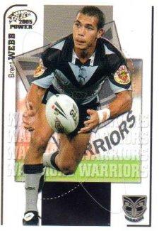2005 NRL Power Base Card 168 Brent Webb Warriors