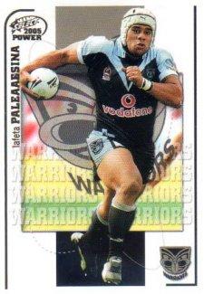 2005 NRL Power Base Card 165 Lafeta Paleaaesina Warriors