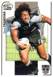 2005 NRL Power Base Card 161 Sione Faumuina Warriors