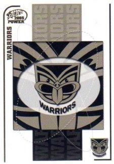 2005 NRL Power Base Card 159 New Zealand Warriors Header