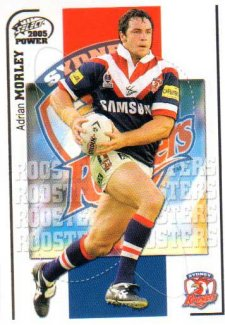 2005 NRL Power Base Card 155 Adrian Morley Roosters