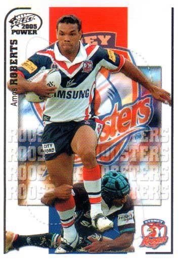 2005 NRL Power Base Card 156 Amos Roberts Roosters
