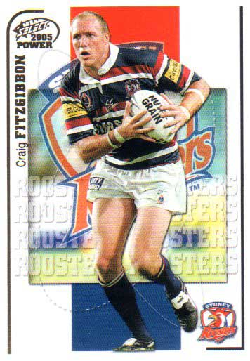 2005 NRL Power Base Card 152 Craig Fitzgibbon Roosters