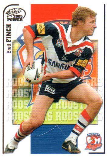 2005 NRL Power Base Card 151 Brett Finch Roosters