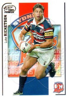 2005 NRL Power Base Card 148 Luke Ricketson Roosters