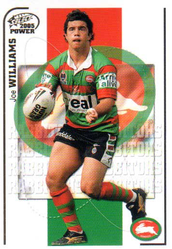 2005 NRL Power Base Card 146 Joe Williams Rabbitohs