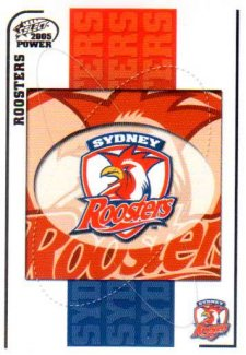 2005 NRL Power Base Card 147 Sydney Roosters Header
