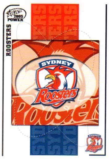 2005 NRL Power Base Card 147 Sydney Roosters Header