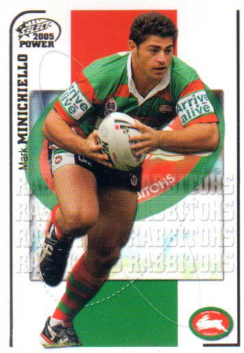 2005 NRL Power Base Card 144 Mark Minichiello Rabbitohs