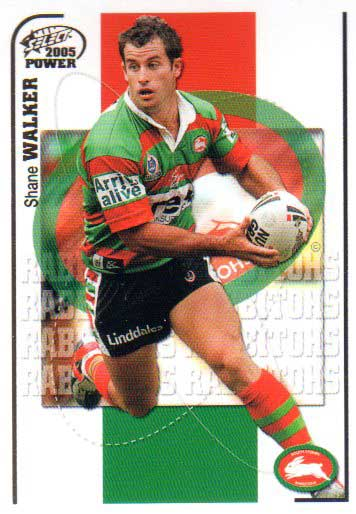 2005 NRL Power Base Card 145 Shane Walker Rabbitohs