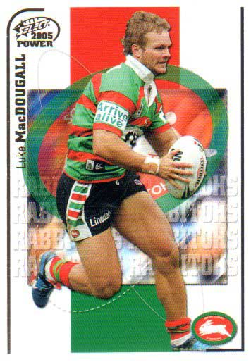 2005 NRL Power Base Card 143 Luke MacDougall Rabbitohs