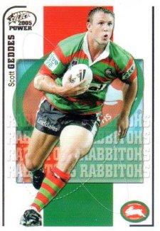 2005 NRL Power Base Card 138 Scott Geddes Rabbitohs