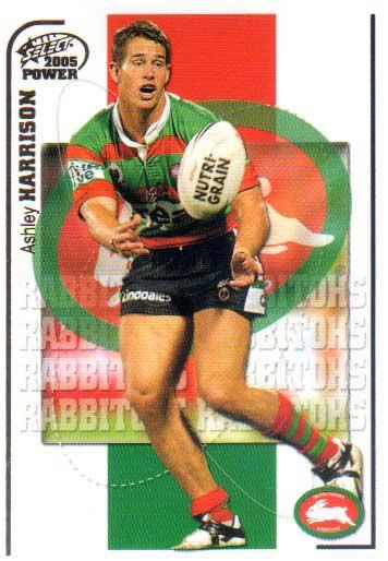 2005 NRL Power Base Card 139 Ashley Harrison Rabbitohs