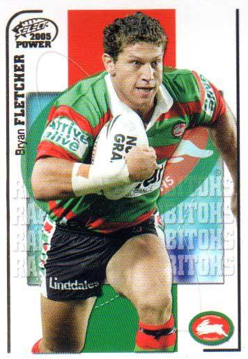 2005 NRL Power Base Card 136 Bryan Fletcher Rabbitohs