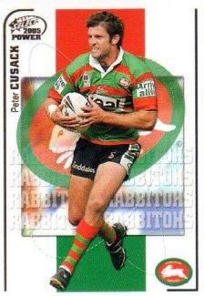 2005 NRL Power Base Card 137 Peter Cusack Rabbitohs
