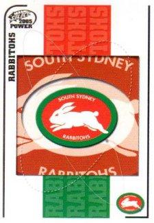 2005 NRL Power Base Card 135 South Sydney Rabbitohs Header