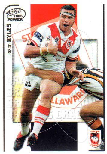 2005 NRL Power Base Card 132 Jason Ryles Dragons