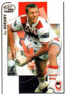 2005 NRL Power Base Card 131 Ben Hornby Dragons