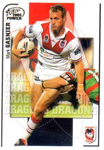 2005 NRL Power Base Card 129 Mark Gasnier Dragons