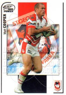 2005 NRL Power Base Card 126 Matt Cooper Dragons