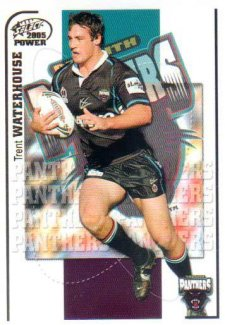 2005 NRL Power Base Card 121 Trent Waterhouse Panthers