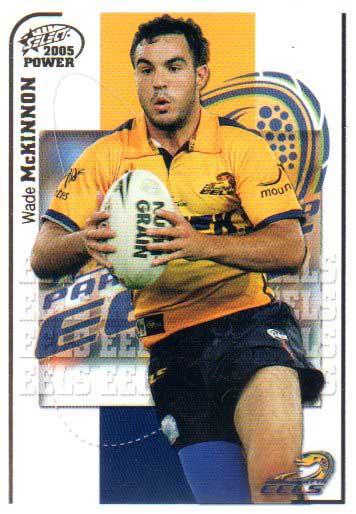 2005 NRL Power Base Card 105 Wade McKinnon Eels