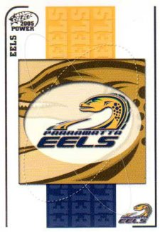 2005 NRL Power Base Card 99 Parramatta Eels Header
