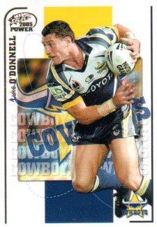 2005 NRL Power Base Card 92 Luke O'Donnell Cowboys