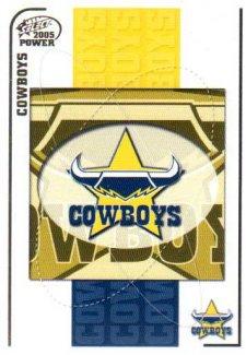 2005 NRL Power Base Card 87 North Queensland Cowboys Header