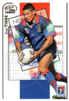 2005 NRL Power Base Card 86 Brad Tighe Knights