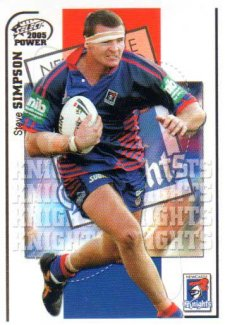 2005 NRL Power Base Card 83 Steve Simpson Knights