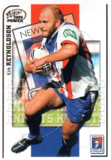2005 NRL Power Base Card 82 Kirk Reynoldson Knights