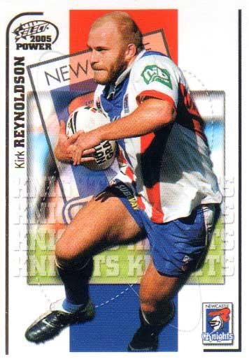 2005 NRL Power Base Card 82 Kirk Reynoldson Knights