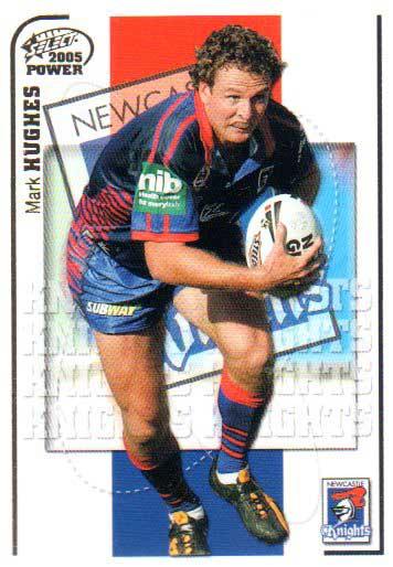 2005 NRL Power Base Card 80 Mark Hughes Knights