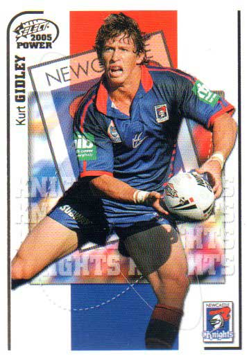 2005 NRL Power Base Card 78 Kurt Gidley Knights