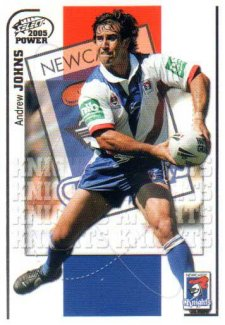 2005 NRL Power Base Card 76 Andrew Johns Knights