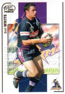 2005 NRL Power Base Card 74 Brett White Storm