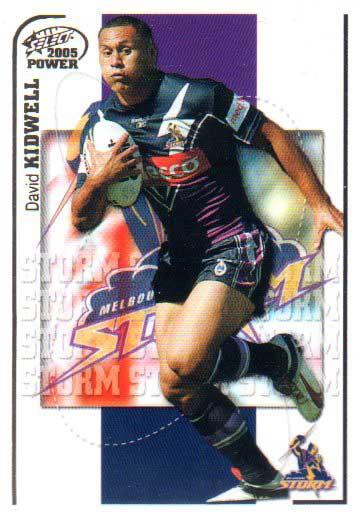 2005 NRL Power Base Card 69 David Kidwell Storm