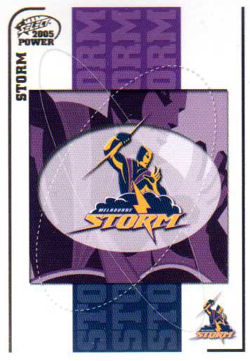 2005 NRL Power Base Card 63 Melbourne Storm Header