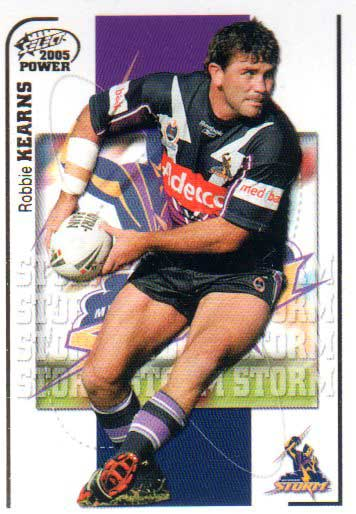 2005 NRL Power Base Card 64 Robbie Kearns Storm