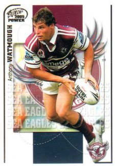2005 NRL Power Base Card 61 Anthony Watmough Sea Eagles