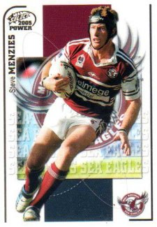 2005 NRL Power Base Card 59 Steve Menzies Sea Eagles
